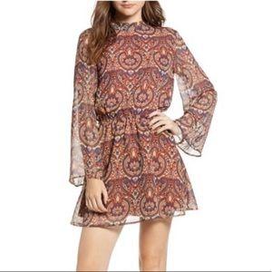 Cupcakes & cashmere paisley open back dress